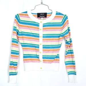 Collectif x Modcloth Colorful Stripe Cardigan